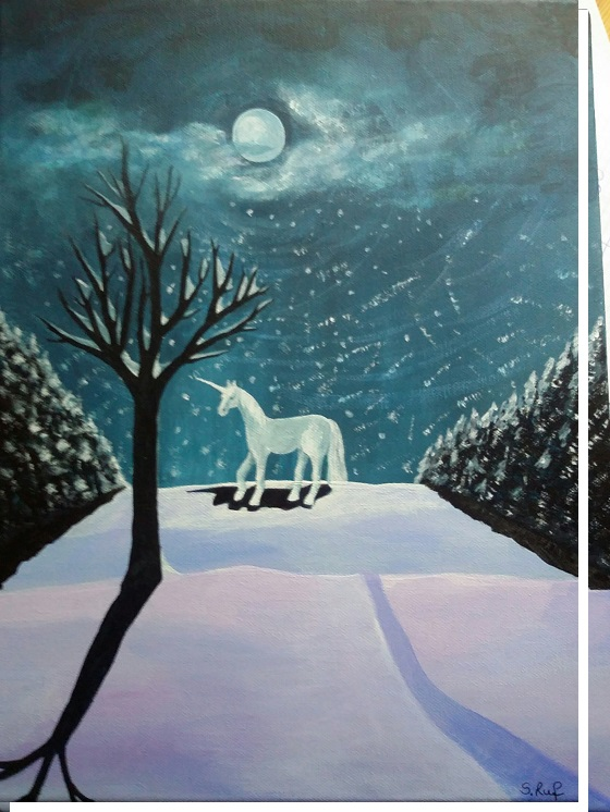 Im Winter 2017/ 18 gemalt